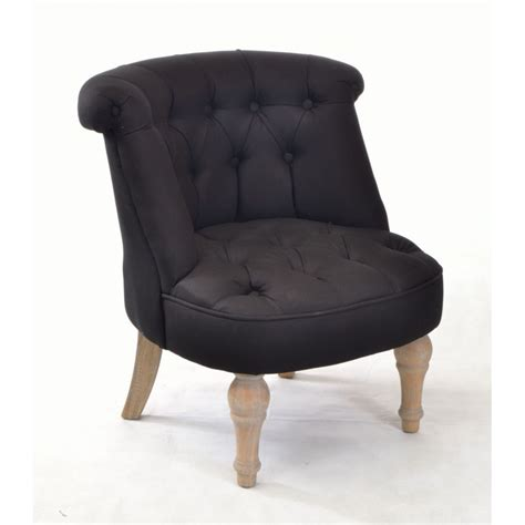 Black Bedroom Chair by Buy A Small Bedroom Chair In Black Linen With Solid Wood Legs