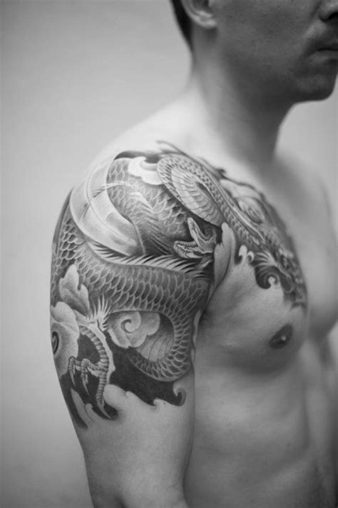 100 Exceptional Shoulder Tattoo Designs for Men and Women | Japanese Tattoos | Dragon tattoo