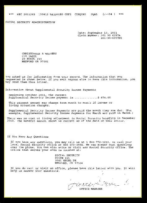 ssi disability award letter award letter for ssi 28 images ssi award letter crna cover