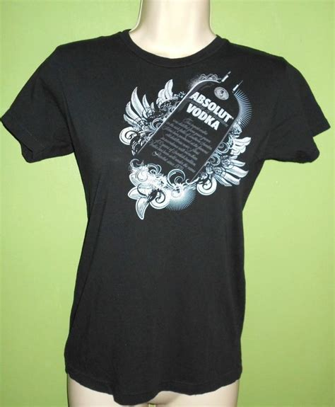 tshirt vodka black absolut vodka t shirt small black
