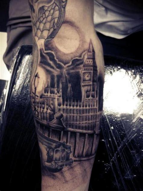 arm realistic big ben tattoo  front  tattoo