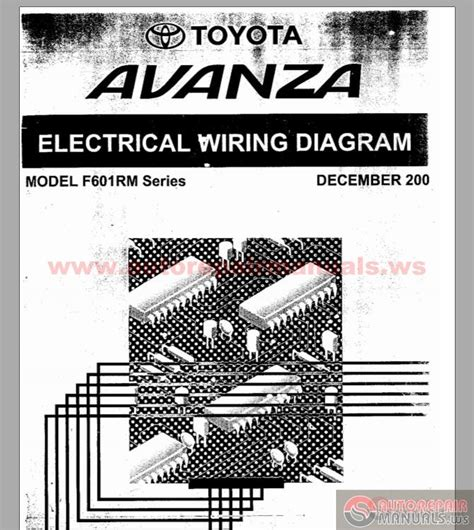 toyota avanza f601rm series electrical wiring diagram auto repair manual forum heavy