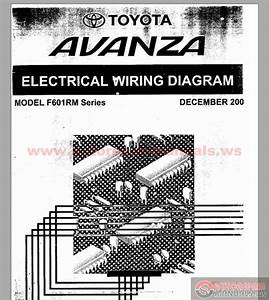 Toyota Avanza F601rm Series Electrical Wiring Diagram
