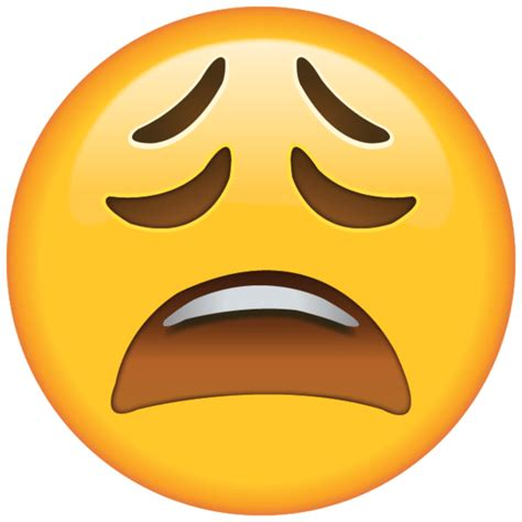High Resolution Tired Face Emoji