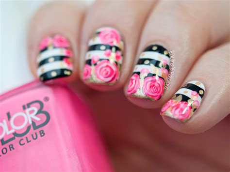 Nail Art Tutorial : Valentine's Roses Nail Art Tutorial