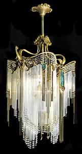 Art nouveau chandelier hector guimard