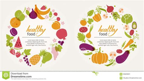 vegetables design fruit and vegetable decorative frames stock vector image 56829891