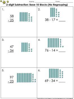 digit subtraction  base  blocks  regrouping