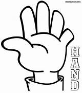 Coloring Hand Pages Hands Printable Colouring Print Adult Colors Peoples Body Clipartmag sketch template