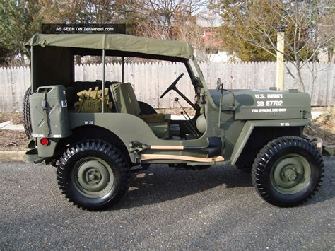 jeep military willys 1963 cj3b army m606 style vietnam military type