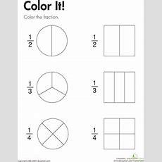 Color The Fraction  Worksheet Educationcom