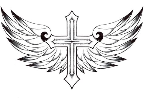 drawings of crosses with wings cliparts co