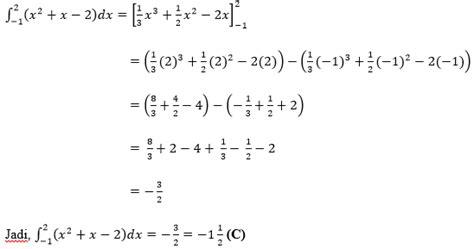 contoh soal  jawaban integral tak tentu guru ilmu sosial