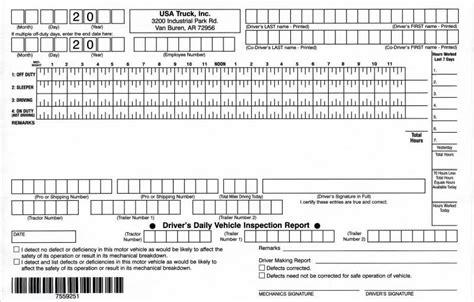 Truckers Log Book Template daily trucker driver log book template format microsoft