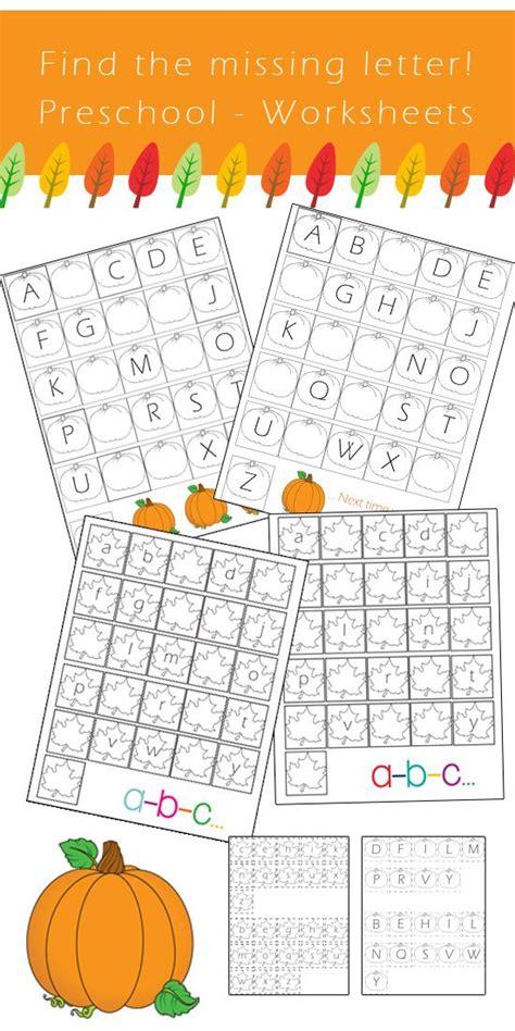 preschool alphabet worksheets find  missing letter