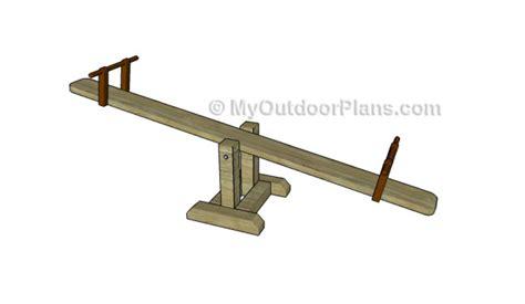 build  seesaw myoutdoorplans  woodworking