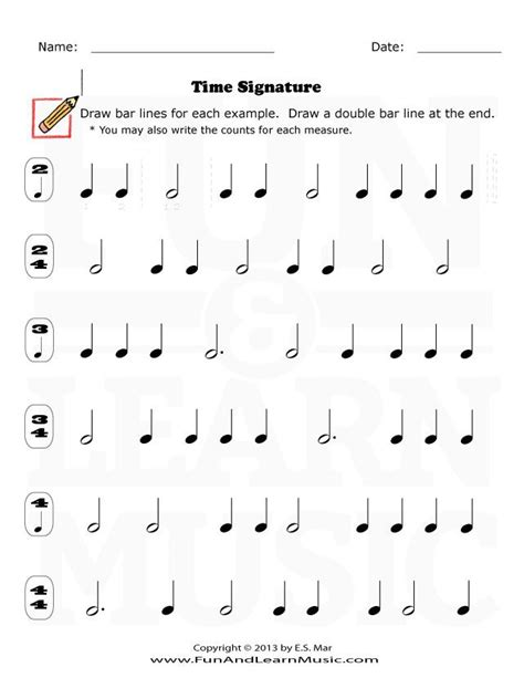 First time seeing your lessons.applying music theory to your bass lines. Time Signature - SproutBeat | Music worksheets, Music ...