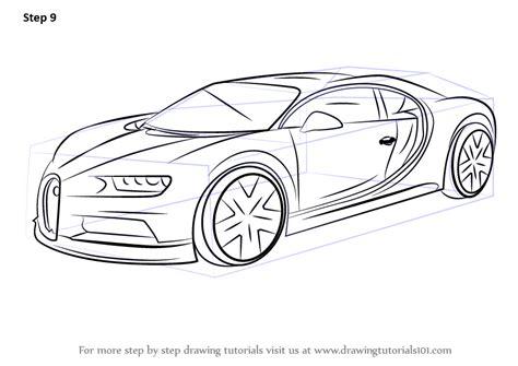 learn   draw bugatti chiron sports cars step