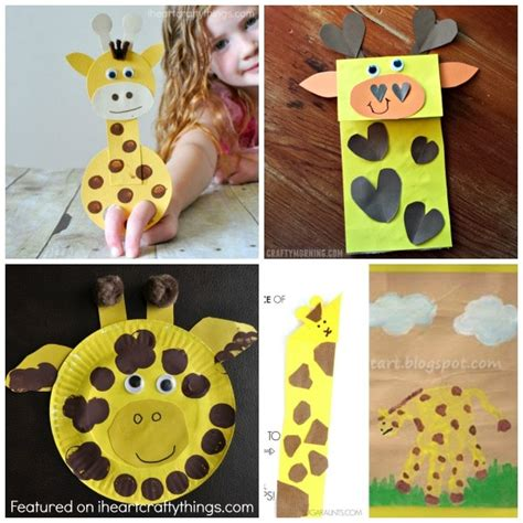 50 zoo animal crafts for 252 | giraffe crafts
