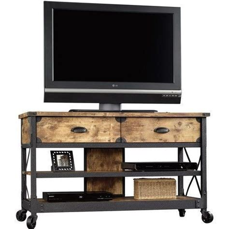 rustic tv console table tv stand rustic table console media cabinet pine metal
