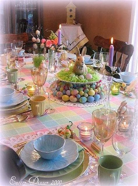 beautiful easter dinner table pictures   images