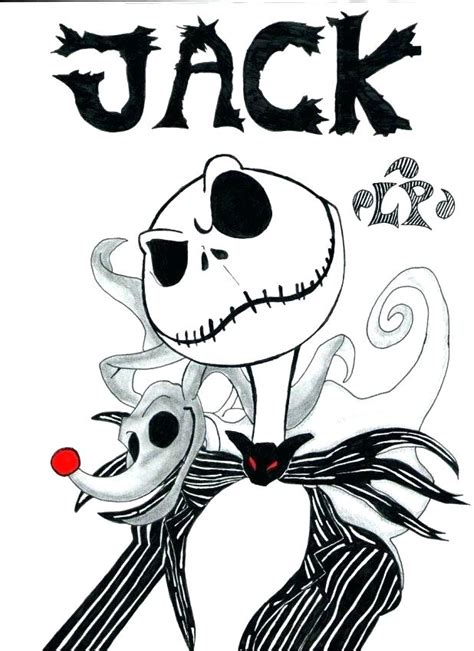 Christmas Jack Skellington To Color