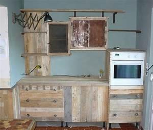 Fabriquer des meubles avec des palettes maison design for Deco cuisine avec meuble en bois