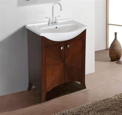 transitional single sink vanity  royal walnut