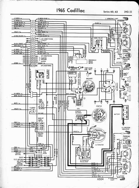 cadillac wiring diagrams 1957 1965
