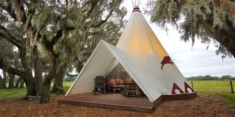 ranch river westgate florida camping glamping teepee luxe teepees central resort luxury native lake american wales beyond guide rodeo night