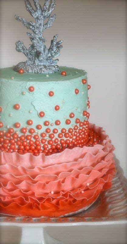 coral cake   wedding anniversary cupcakes