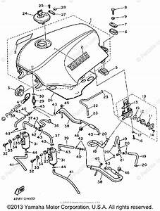 Yamaha Motorcycle 1985 Oem Parts Diagram For Fuel Tank