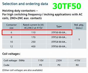 3tf50 Datasheet - Contactors For Hoisting Duty
