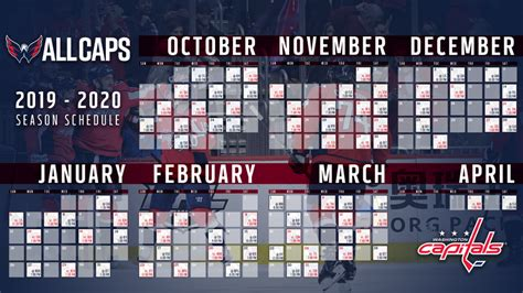 washington capitals release   schedule