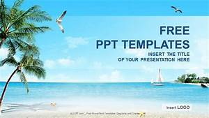 beach nature powerpoint templates download free With beach themed powerpoint templates