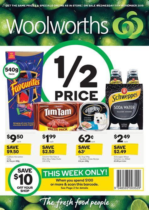 woolworths catalogue specials  nov