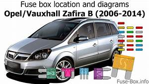 Fuse Box Location And Diagrams  Opel    Vauxhall Zafira B  2006-2014