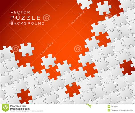 vector red background puzzle pieces royalty  stock