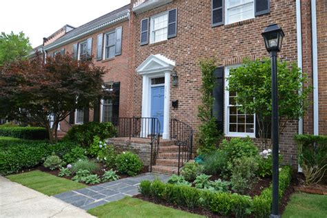townhouse landscaping townhouse after traditional landscape atlanta by marcia weber gardens to love