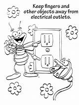 Coloring Electricity Safety Pages Printable Medium Getcolorings Recommended Colors Getdrawings sketch template