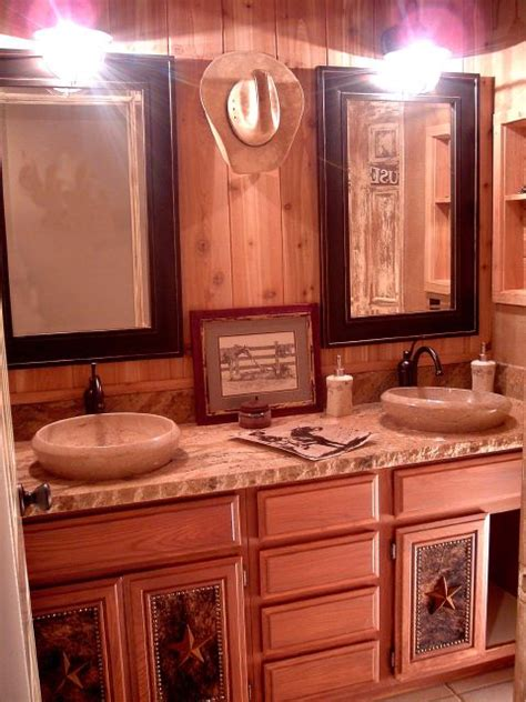 western style bathroom sinks spanish cowboy theme interior murals design installation