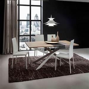 table de salle a manger design extensible en stratifie With salle À manger contemporaineavec table manger design