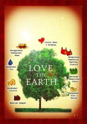 contoh gambar poster  slogan bertema lingkungan hidup