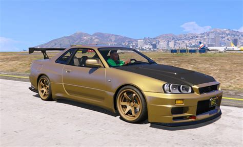 nissan skyline nissan skyline gt r bnr34 add on gta5 mods com