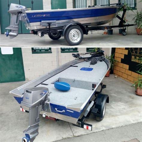 nice tin boat  custom deck boat restoration small