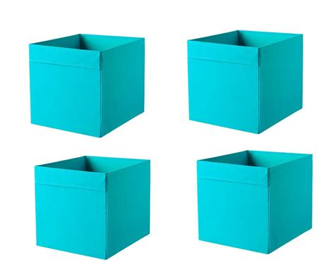 1 2 or 4x ikea dr 214 na storage box organiser expedit unit file 6 colours ebay