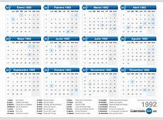 Calendario 1992