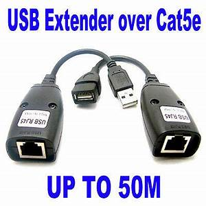 Usb Utp Extender Extension Over Single Rj45 Ethernet Cat5e