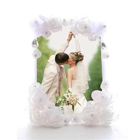 support cadre photo menu fleur strass mariage