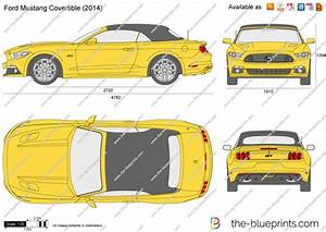 The-Blueprints.com - Vector Drawing - Ford Mustang Convertible